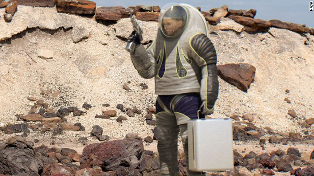 Photo of NASA's new spacesuit