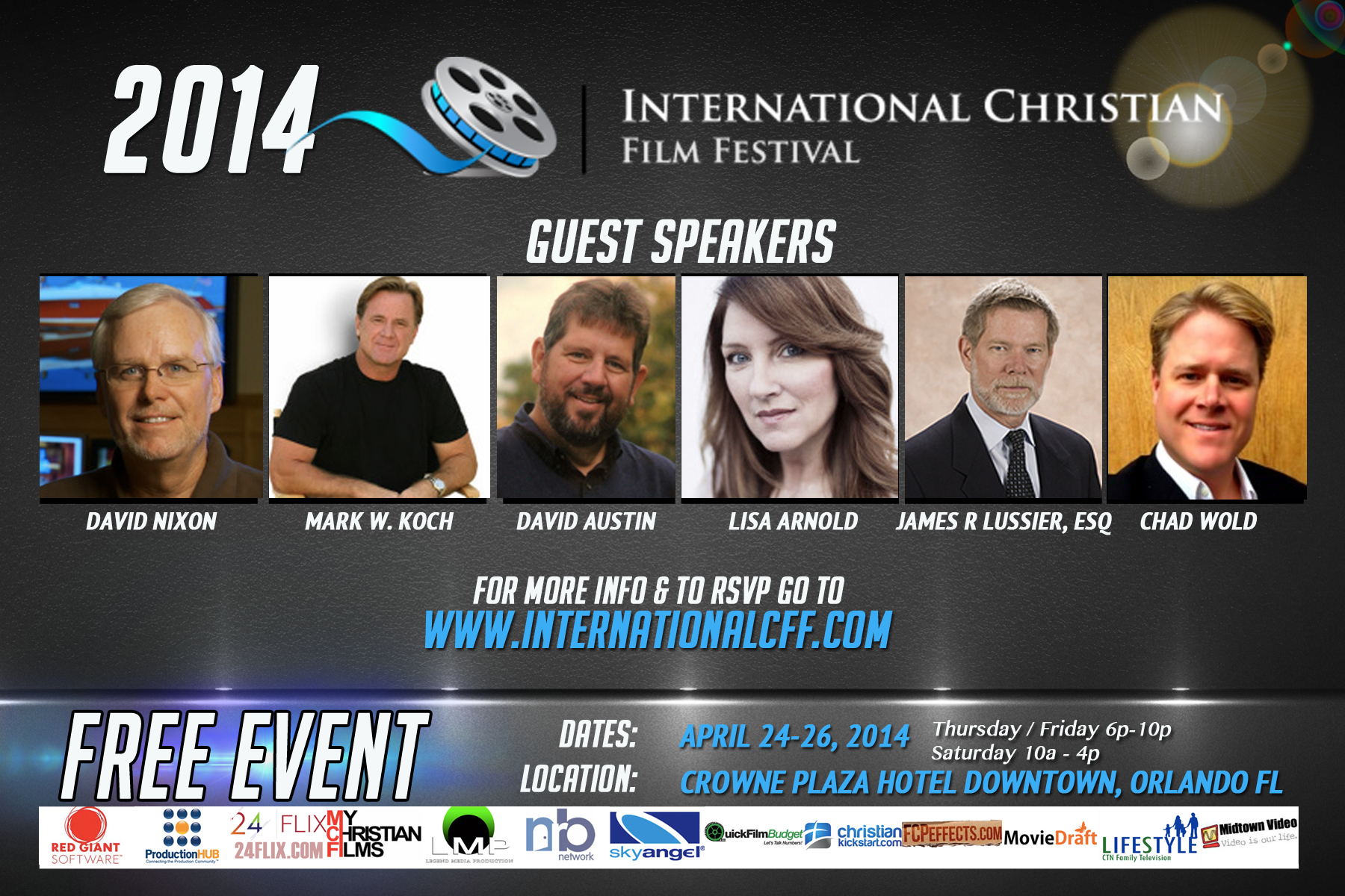Photo of The 2014 International Christian Film Festival to have major players