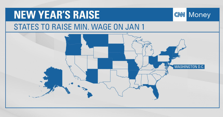 Photo of 21 states raising minimum wage on January 1