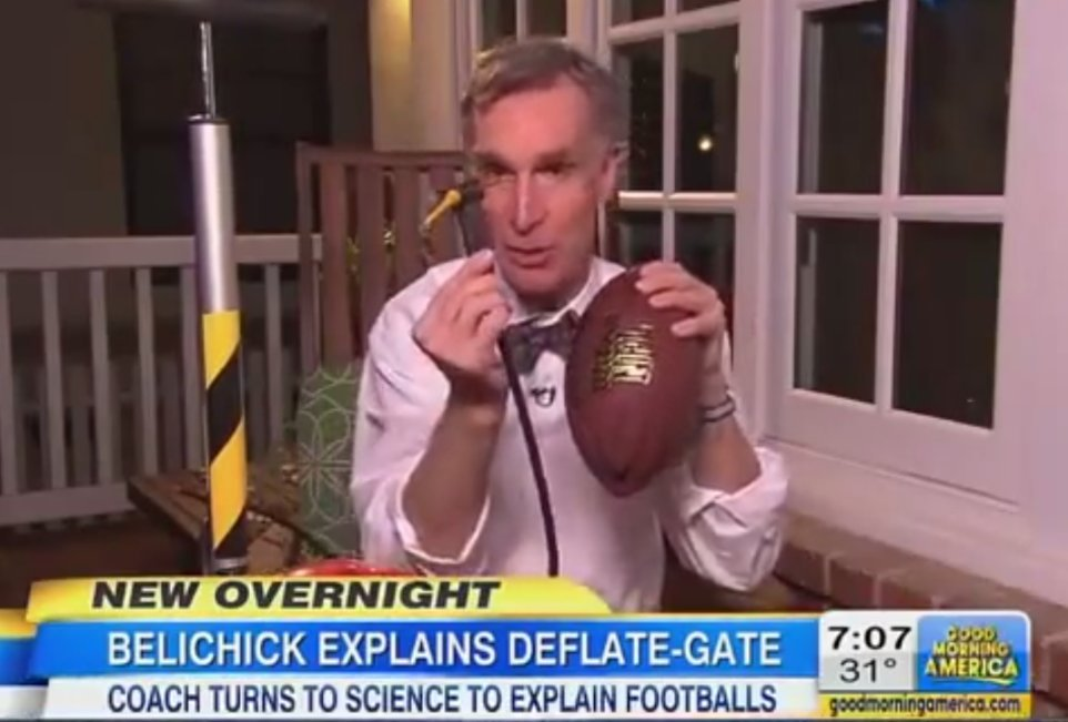 Photo of Bill Nye Says Belichick's 'Deflategate' Explanation Doesn't Make Any Sense