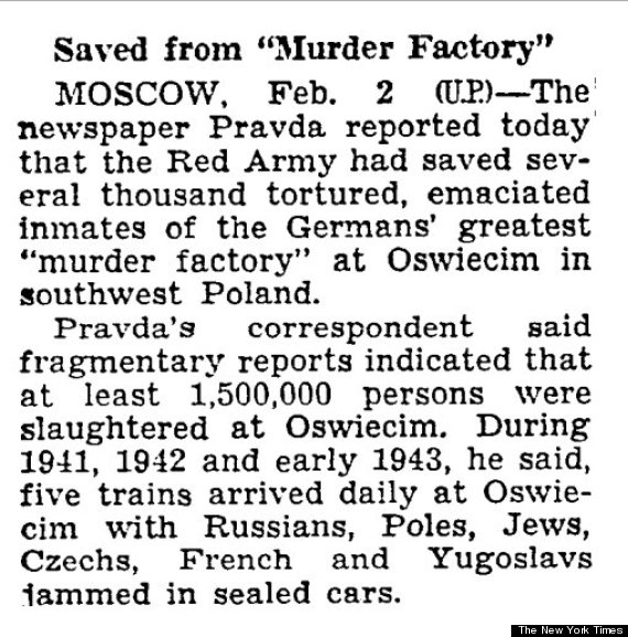 Photo of How The New York Times Reported The Liberation Of Auschwitz In 1945