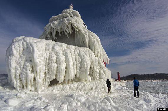 Photo of Frozen Sentinels of Southern Lake Michigan