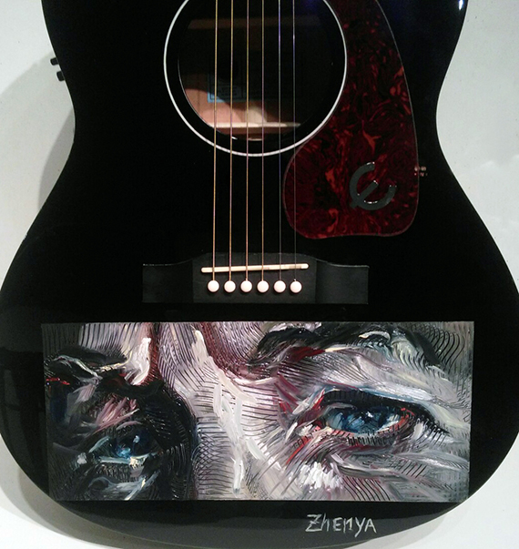 Photo of If This Guitar Had Eyes: Artist Zhenya Gershman's Portrait of Bob Dylan Takes Center Stage