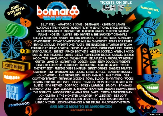 Photo of Bonnaroo 2015 Lineup Includes Billy Joel, Kendrick Lamar And Deadmau5