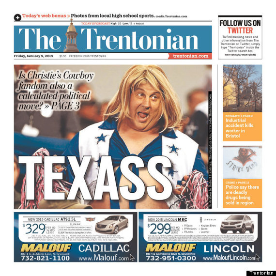 Photo of New Jersey Is Having A Texas-Sized Laugh With Chris Christie As A Cowboys Cheerleader