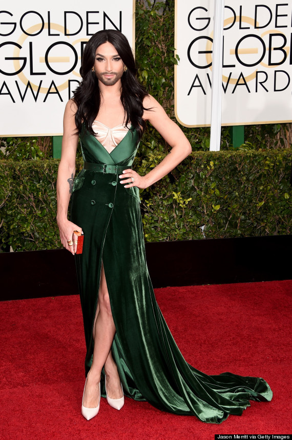 Photo of Conchita Wurst Stuns On The Golden Globes Red Carpet