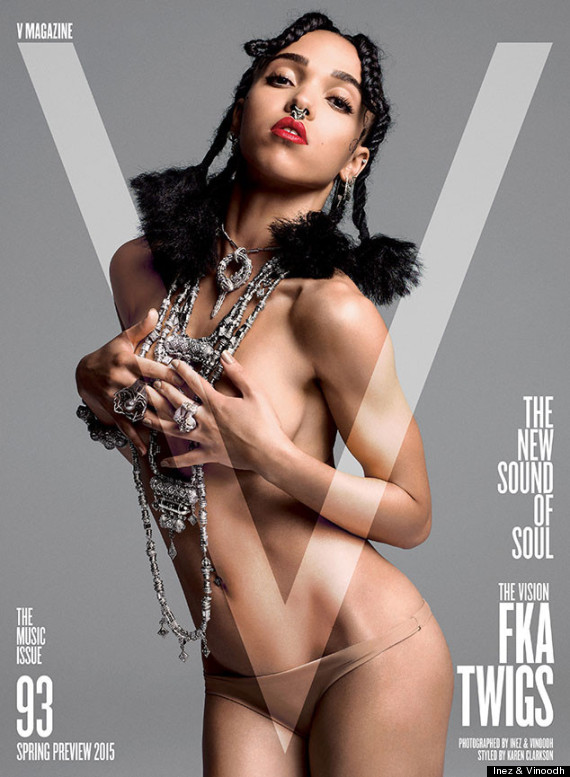 Photo of FKA Twigs Poses Topless For V Magazine
