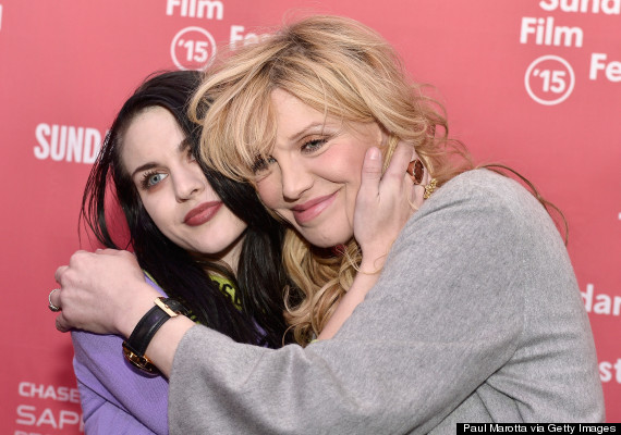 Photo of Frances Bean Cobain And Courtney Love Attend Kurt Cobain Documentary Screening At Sundance