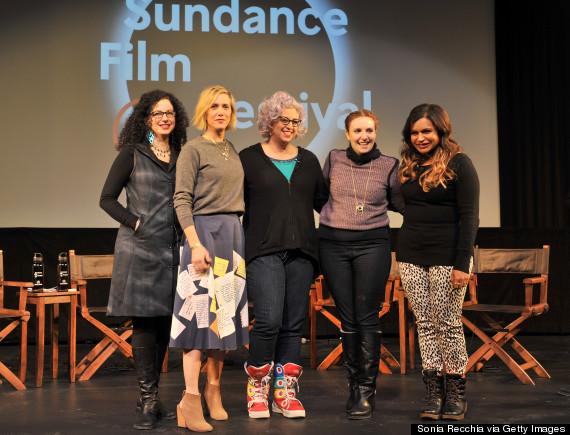 Photo of Lena Dunham Dings Woody Allen, Discusses Campus Rape At Sundance