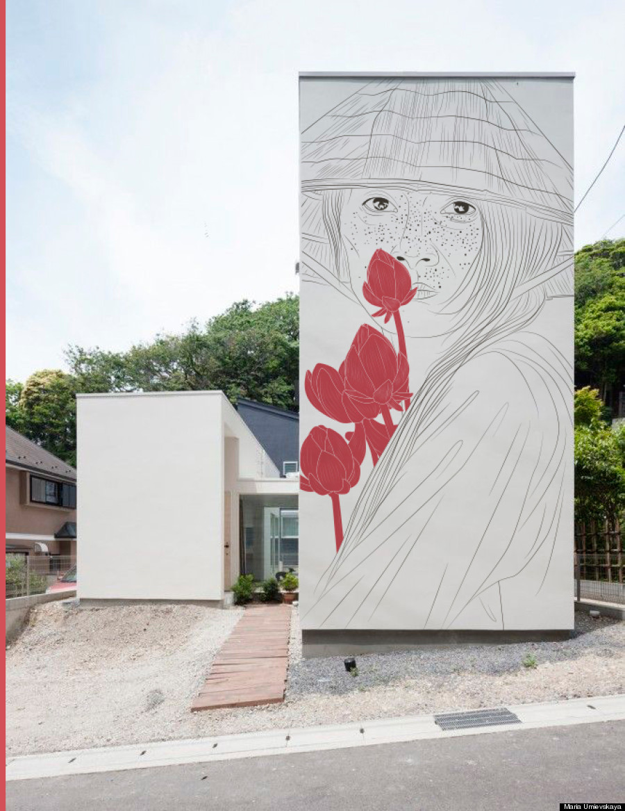 Photo of Artist Virtually 'Paints' Ancient Drawings Onto Modern Homes Around The World