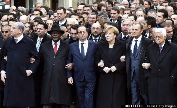 Photo of Ultra-Orthodox Newspaper Appears To Have Edited Women Out Of Paris March Image