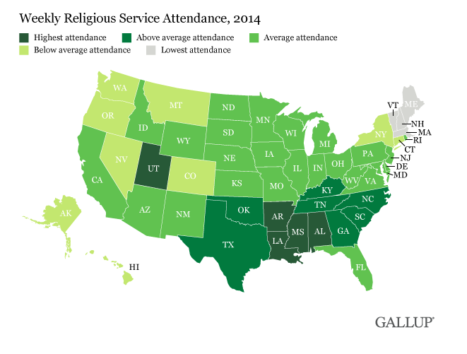 Photo of Utah Beats Out Every Other State For Highest Weekly Religious Service Attendance