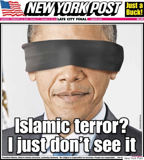 Photo of New York Post Puts A Blindfold On Obama In Outrageous Front Page
