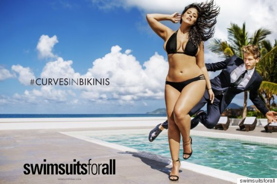 Photo of Ashley Graham's Historic Plus-Size Ad Runs In Sports Illustrated's Swimsuit Issue