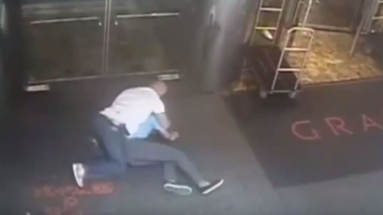 Photo of Tennis Star James Blake tackled and arrested by NYC Police