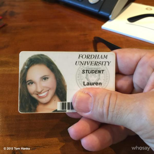 Photo of Tom Hanks Finds Student ID, Sends Tweet To Find Her