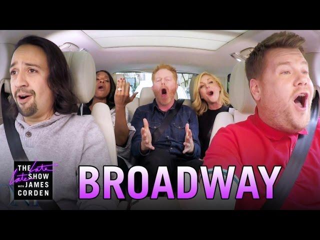 Photo of Broadway Carpool Karaoke ft. Hamilton & More