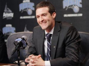 Rob Hennigan is announced as the new General Manager of the Orlando Magic during a press conference at the Amway Center on Thursday, June 21, 2012. (Stephen M. Dowell/Orlando Sentinel)