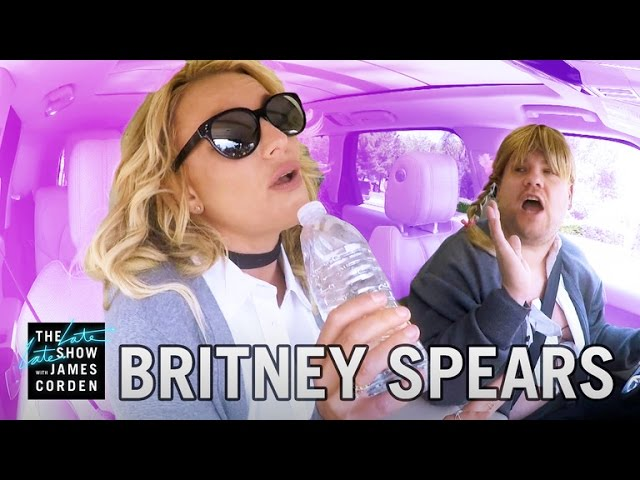 Photo of Britney Spears on Carpool Karaoke
