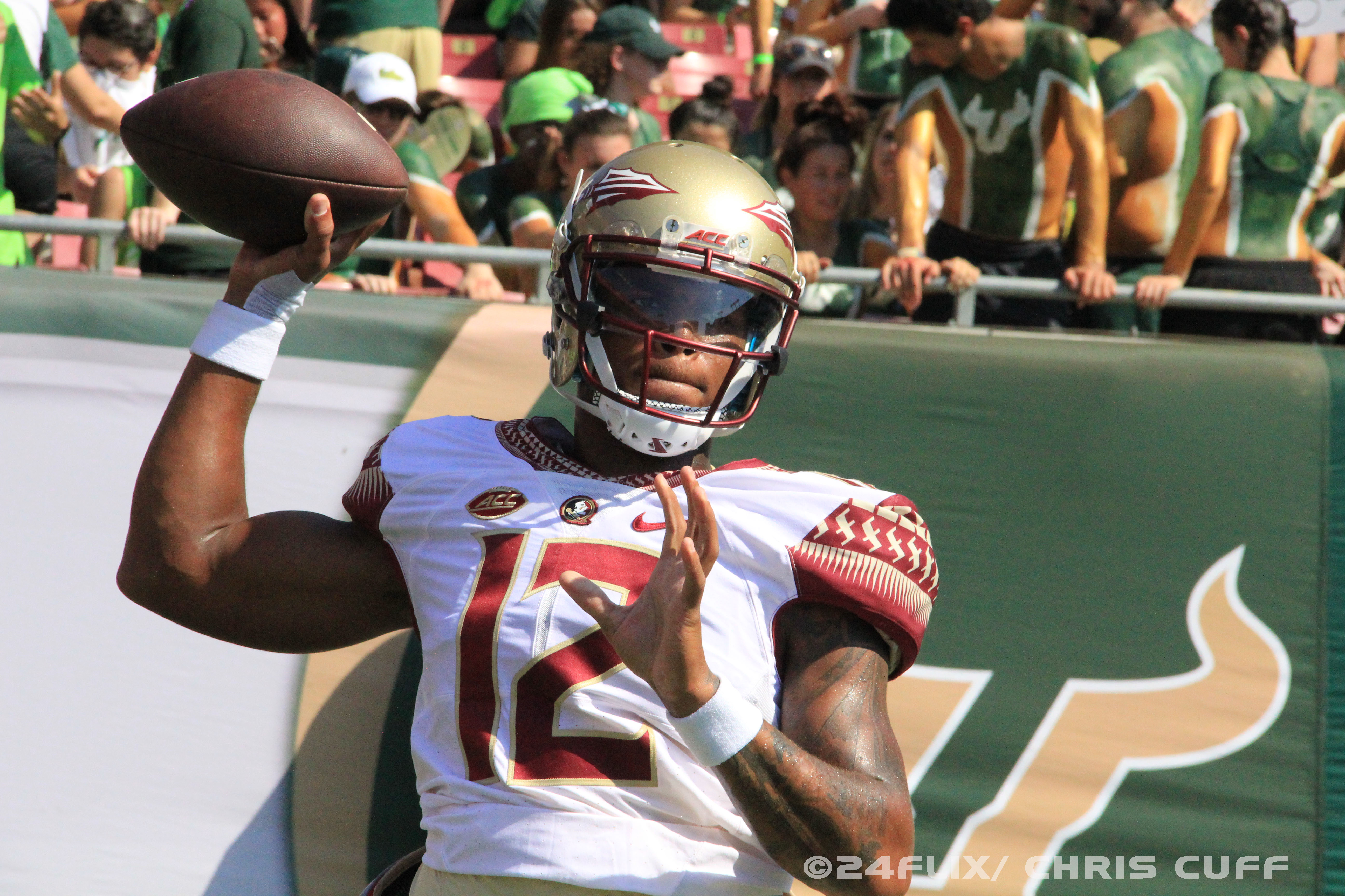 Photo of After Early Fireworks, FSU Dominates USF 55-35