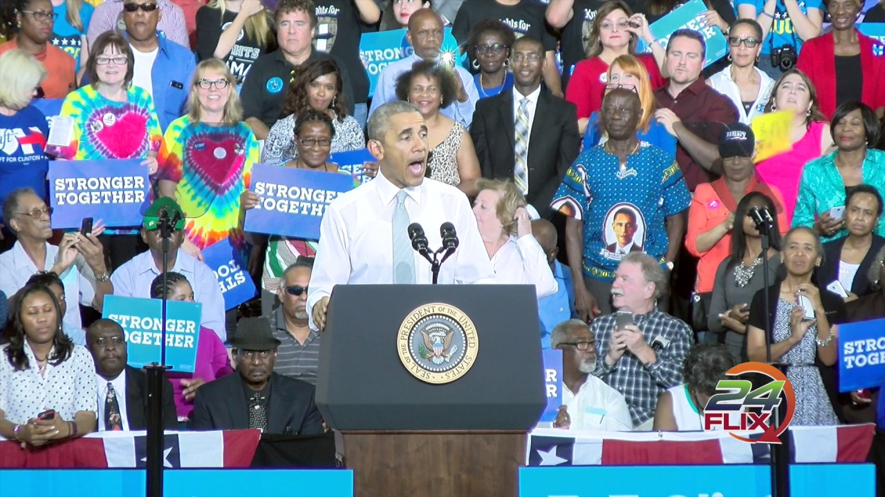 Photo of President Obama stomps for Hillary in Orlando