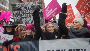 Celebrities Join Thousands For Women's March at Sundance