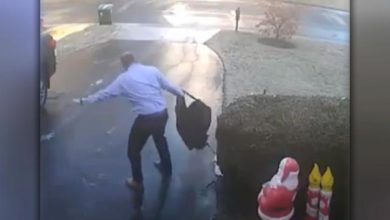 Photo of Man slips and falls on icy driveway