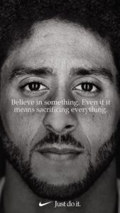 Nike teams with Colin Kaepernick in Ad Campaign