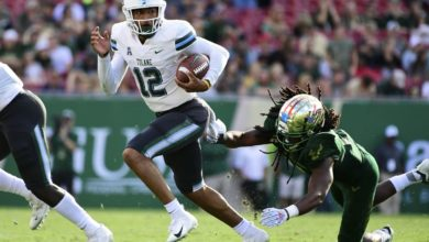 Photo of USF trounced by Tulane 41-15 for second straight in conference loss
