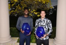 Photo of AARON GORDON AND JONATHAN ISAAC NAMED CO-WINNERS OF 2018-19 RICH & HELEN DeVOS COMMUNITY ENRICHMENT AWARD