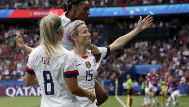 Photo of Megan Rapinoe, USA Beat France, Advance to 2019 Women's World Cup Semi-Finals