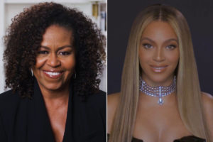 Michelle Obama presents Beyoncé with BET Humanitarian Award