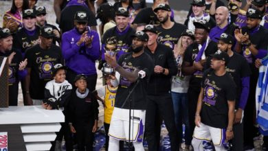 Photo of Los Angeles Lakers win 2020 NBA title, LeBron James awarded MVP award